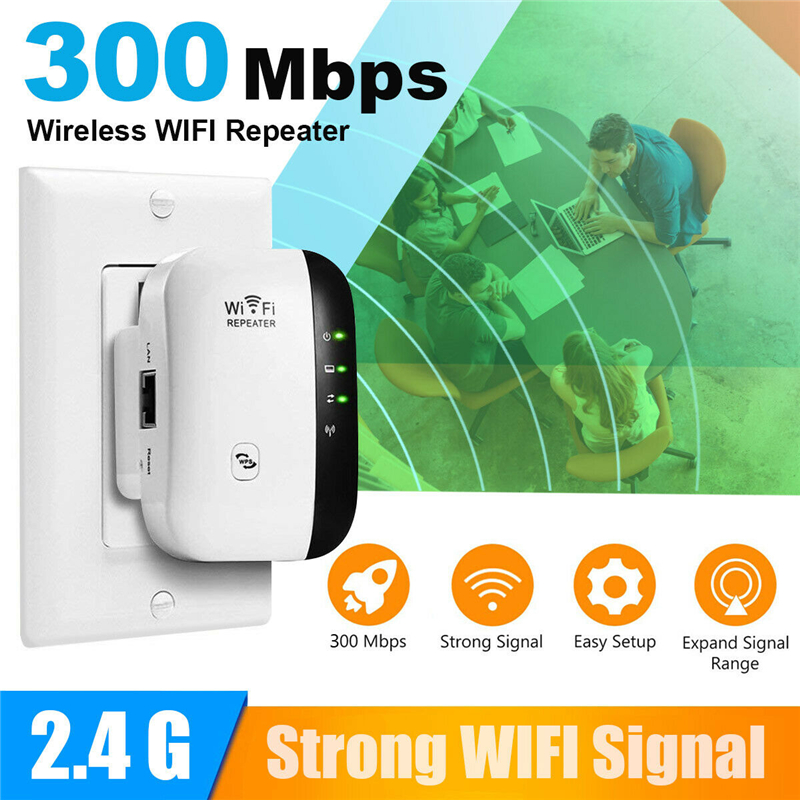 300Mbps Wireless Repeater WiFi Range Extender Signal Booster