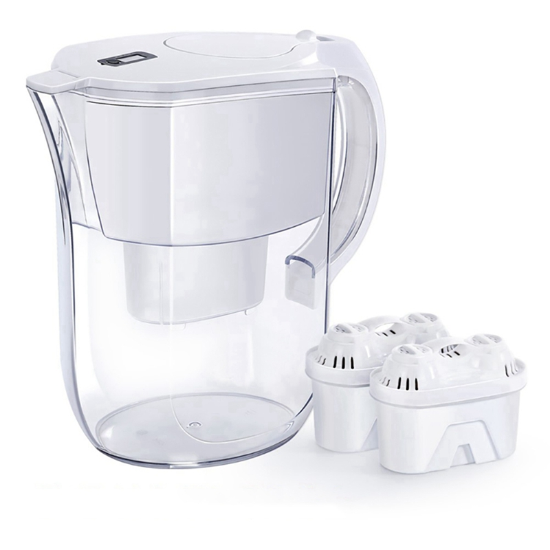 3.8L 10 Cup Water Filter Pitchers With 2 Filters Purificatio